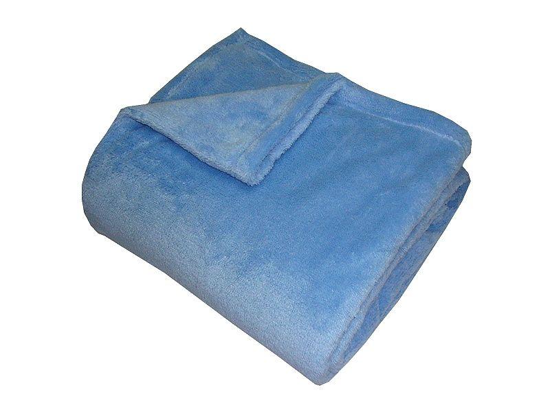 Jednobarevná kvalitní super soft deka modré barvy, Dadka