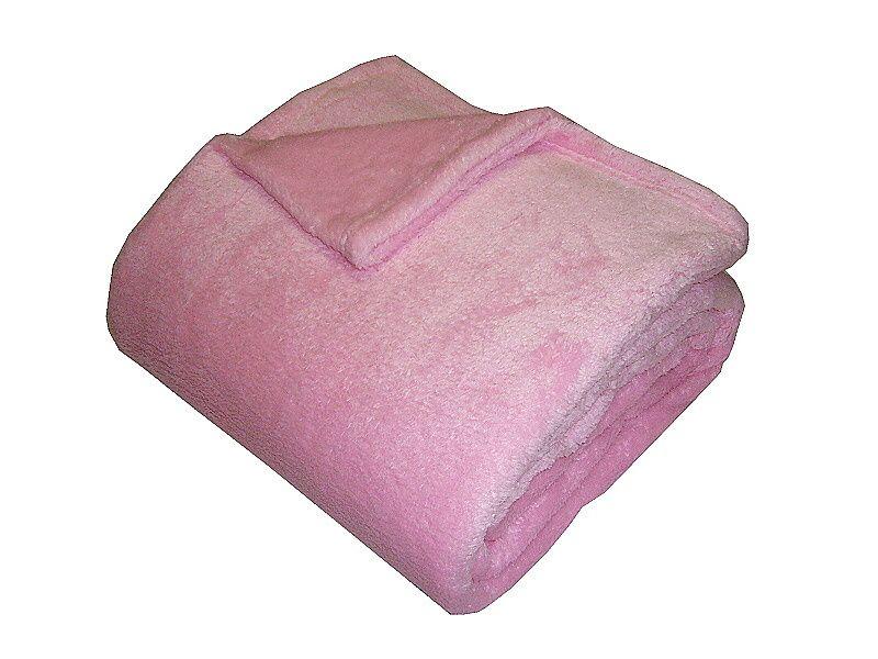 Jednobarevná kvalitní super soft deka v barvě růžové, Dadka