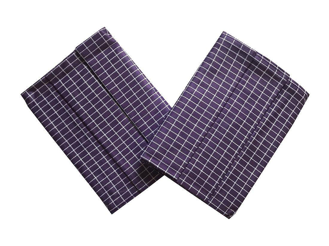 S motivem kostiček kvalitní utěrka Extra savá Drobná kostka fialovo/bílá - 3 ks, Svitap