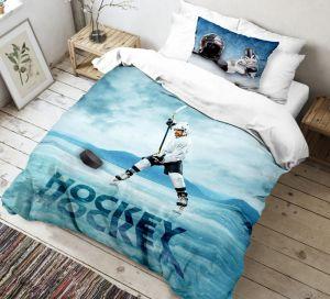Bavlněné 3D povlečení pro příznivce ledního hokeje, | 140x200, 70x90 cm