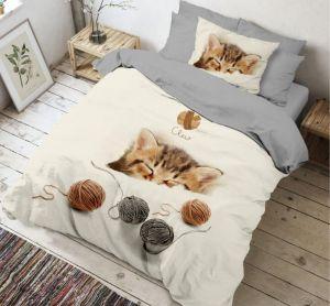 Kvalitní bavlněné 3D povlečení Kitten, | 140x200, 70x90 cm, 140x200, 70x90 cm