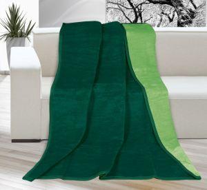 Deka Kira jednobarevná tmavě zelená/zelená