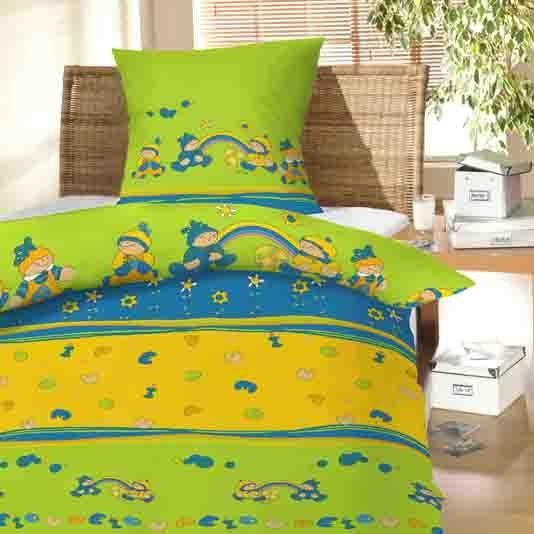 V pestrých barvách kvalitní dětské bavlněné ložní povlečení do postýlky Děti a duha, Hybler textil
