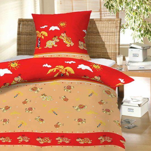 Dětské bavlněné ložní povlečení do postýlky Želvy červené, Hybler textil