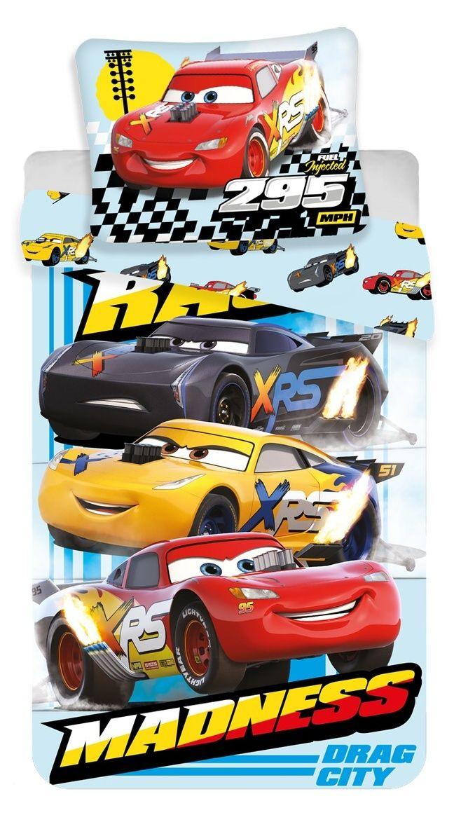 Dětské bavlněné povlečení Cars Madness Jerry Fabrics