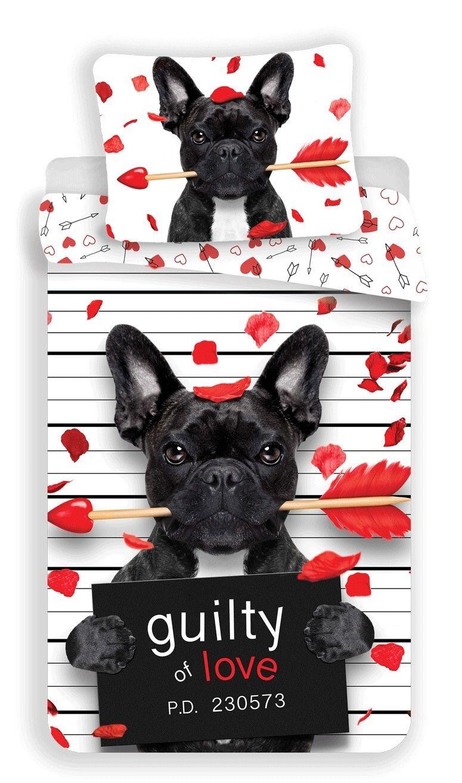 Povlečení fototisk Bulldog heart Jerry Fabrics