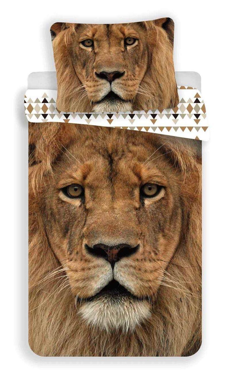 Bavlněné povlečení s motivem lva - Lev 03 Jerry Fabrics