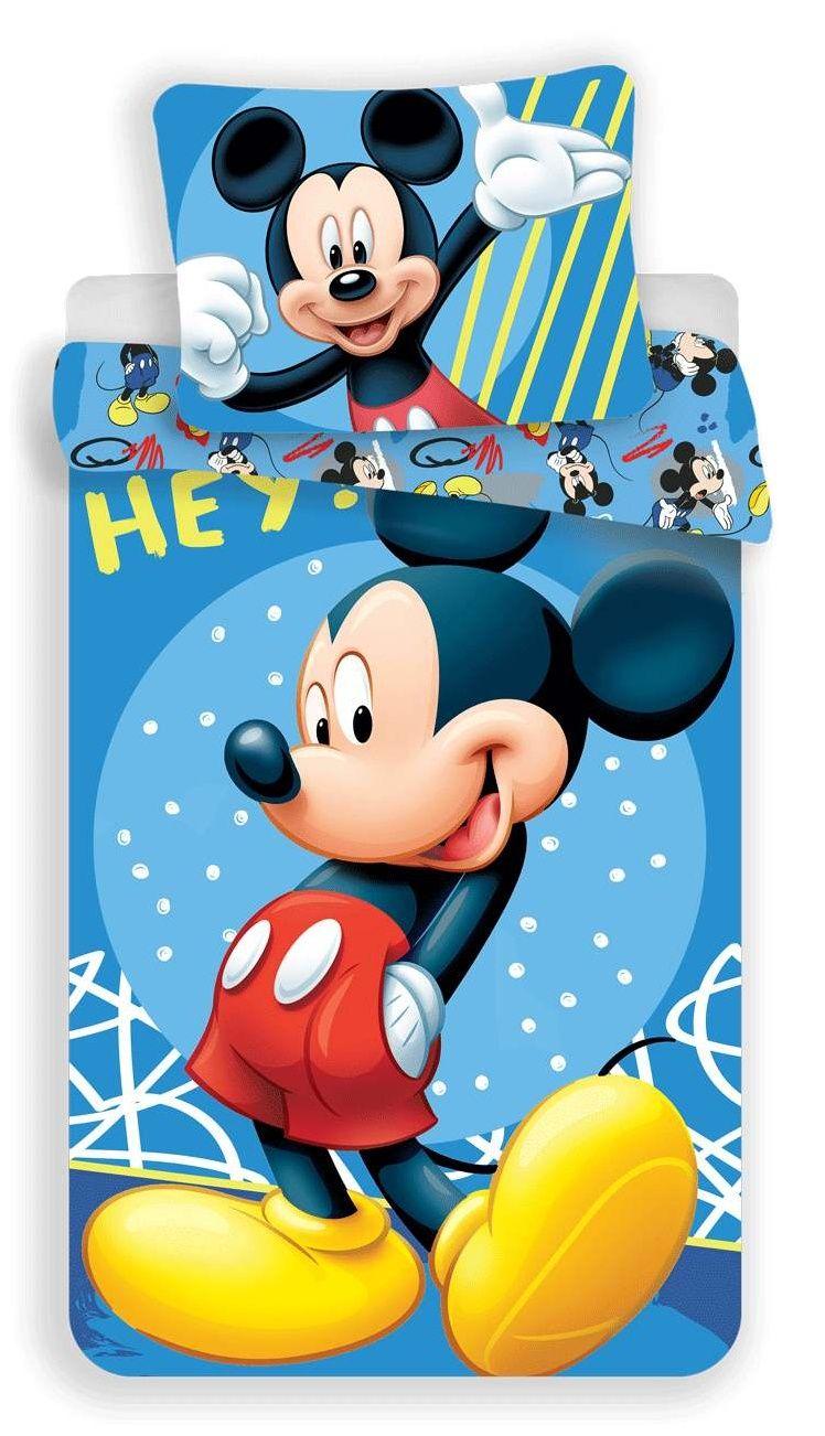 Dětské bavlněné povlečení s postavičkou Mickey 043 hey v modrém, Jerry Fabrics