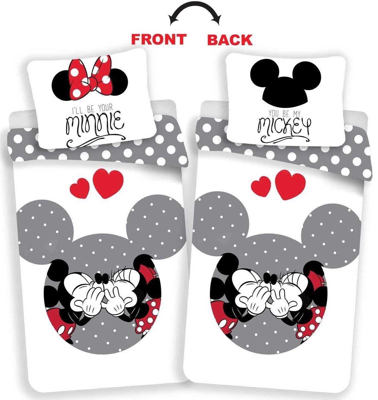 Oblíbené dětské bavlněné povlečení se známým motivem Mickey a Minnie, Jerry Fabrics