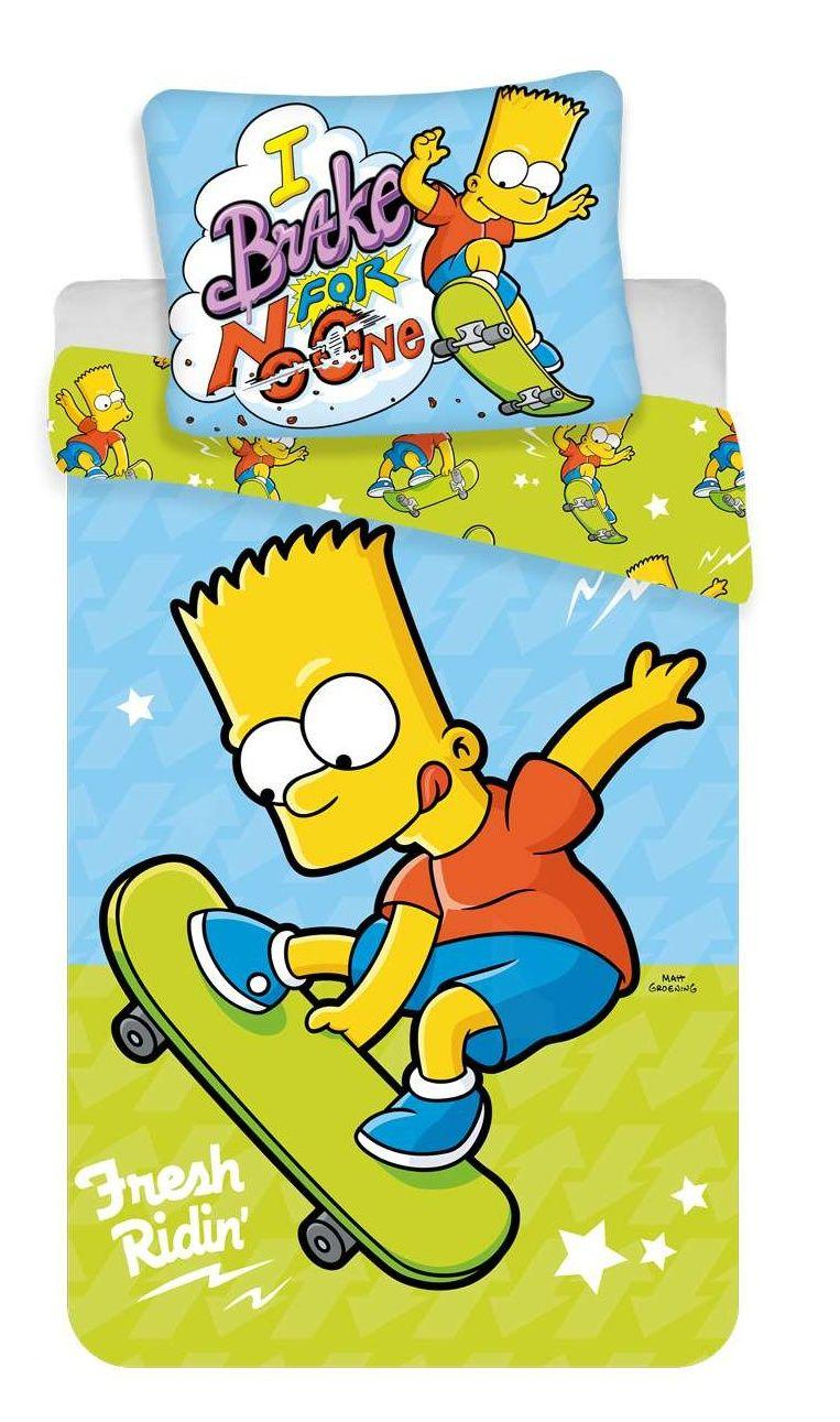 Bavlněné povlečení se známou postavičkou Bárta Simpsona, Jerry Fabrics