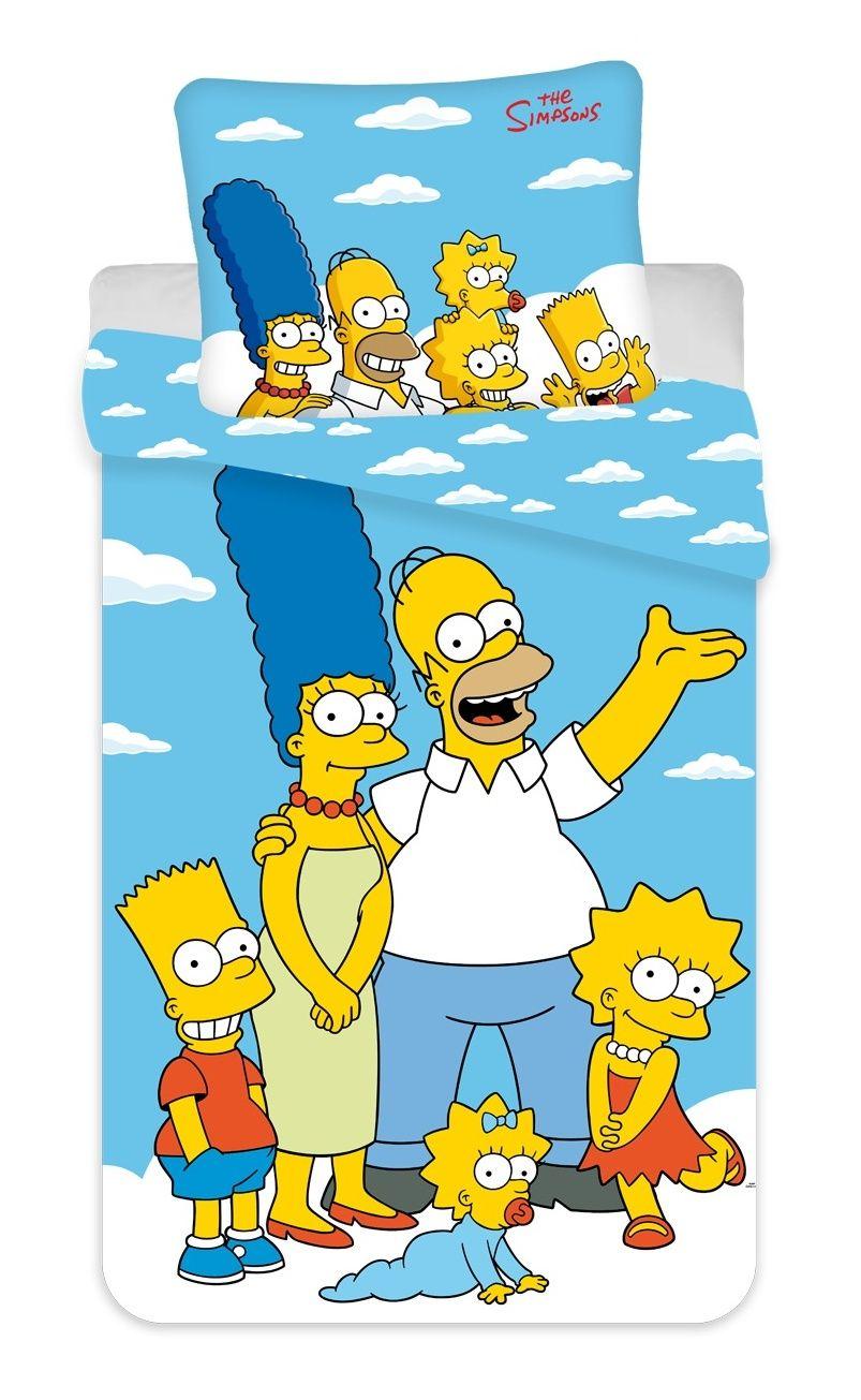 Povlečení Simpsons Family clouds 02 Jerry Fabrics