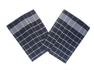 Utěrka Negativ Egyptská bavlna černá/bílá 50x70 cm balení 3 ks