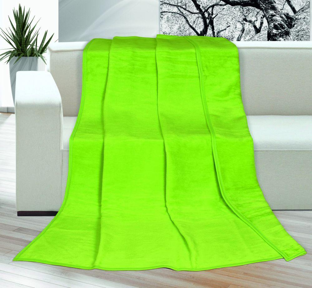 Akrylová deka Kira jednobarevná - zelená, Kvalitex