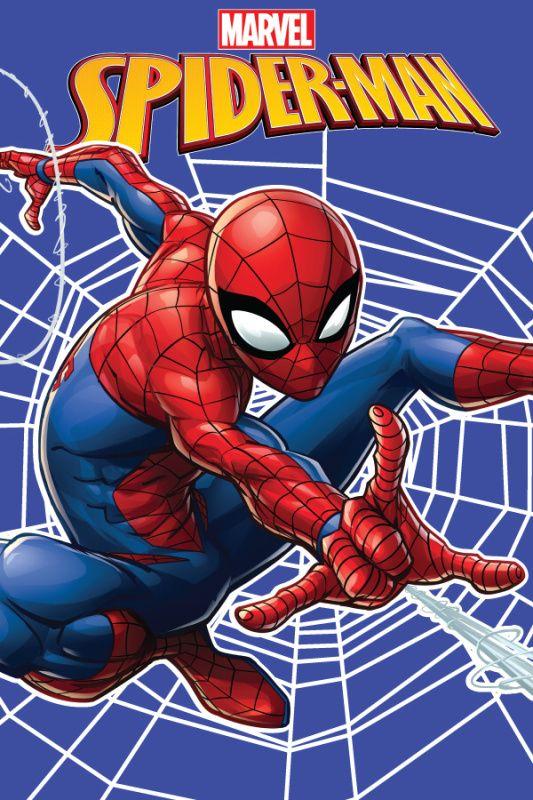 Příjemná dětská deka Spiderman v modré barvě, Jerry Fabrics