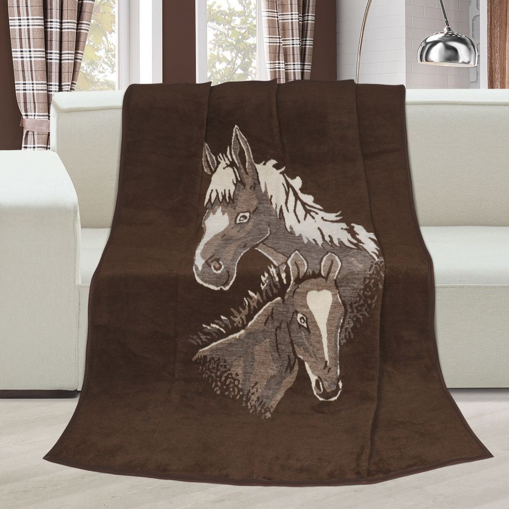 Deka vzorovaná Koně Kvalitex
