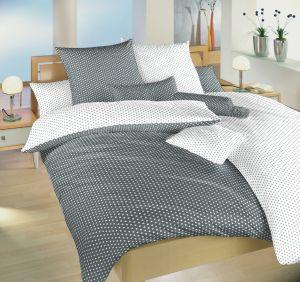 Oboustranné kvalitní bavlněné ložní povlečení Hvězdička bílá/šedá DUO, | 140x200, 70x90 cm, Povlečení bavlna Hvězdička bílá/šedá DUO 140x220, 70x90 cm, Povlečení bavlna Hvězdička bílá/šedá DUO 40x40 cm povlak, Povlečení bavlna Hvězdička bílá/šedá DUO 40x50 cm povlak