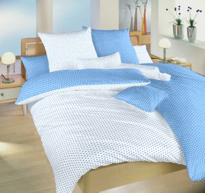 Oboustranné kvalitní bavlněné ložní povlečení Hvězdička bílá/světle modrá DUO, | 140x200, 70x90 cm, 140x220, 70x90 cm