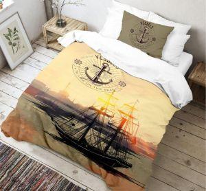Bavlněné 3D povlečení s motivem krásné plachetnice a přístavu Voyage, | 140x200, 70x90 cm