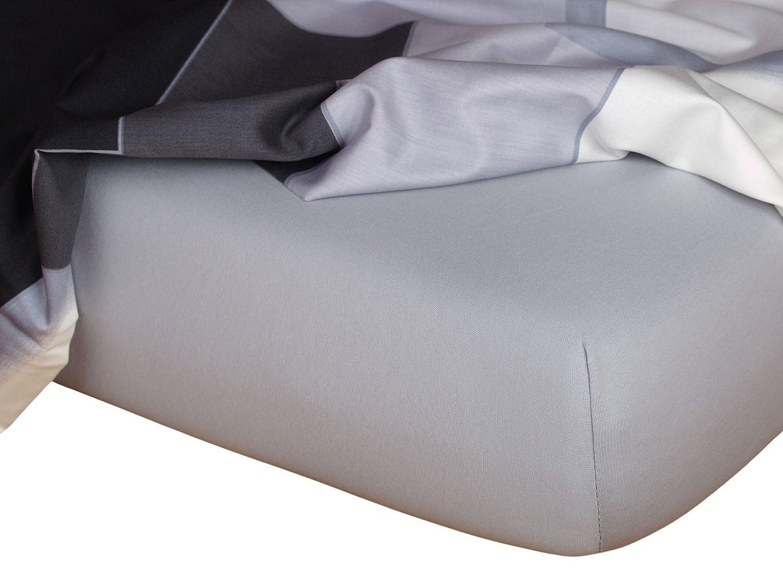 Kvalitní napínací jersey prostěradlo českého výrobce šedé barvy, Dadka
