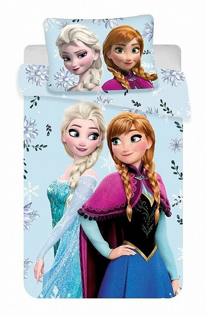 Bavlněné holčičí povlečení Frozen Floral 02, Jerry Fabrics