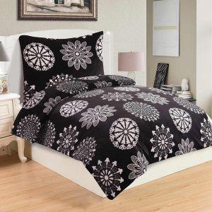 Do černé barvy laděno kvalitní a hřejivé mikroflanelové ložní povlečení Coco black,  | 140x200, 70x90 cm