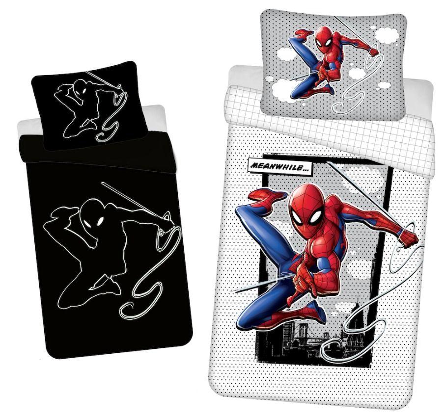 Bavlněné dětské povlečení Spiderman 02 svítící efekt, Jerry Fabrics