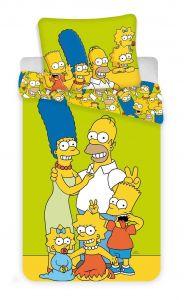 Bavlněné povlečení Simpsons yellow green