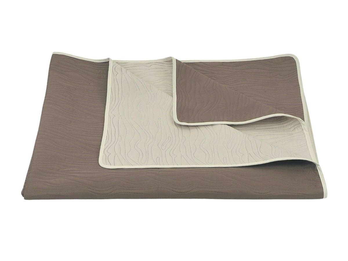 Přehoz na postel Ultra 7 824-823 krémová/středně hnědá, Dadka