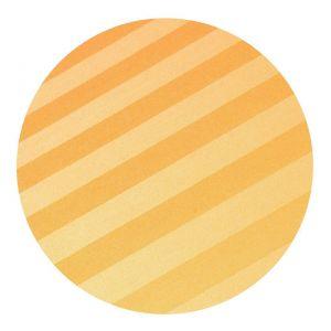 Kvalitní ložní povlečení atlas grádl okrový proužek 2,5 cm,   140x200, 70x90 cm