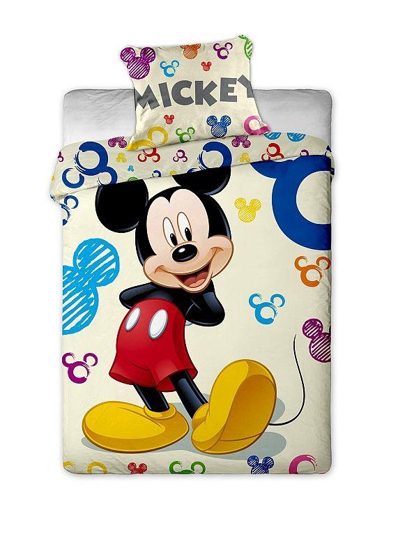 Dětské bavlněné ložní povlečení Mickey Colours