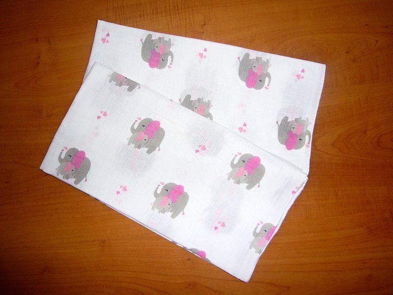 Plena 70x70 cm - Slon růžový (balení 5 ks)