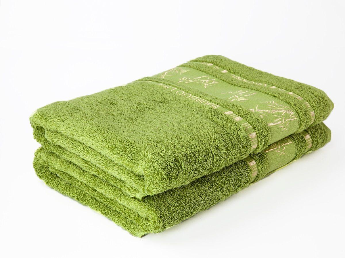Bambusové ručníky a osušky Bamboo osuška zelená, rozměr 70x140 cm.