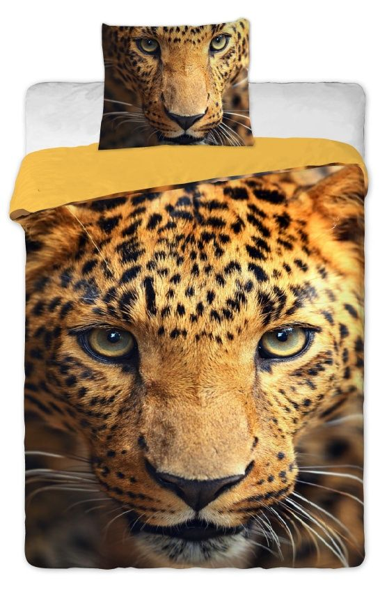 Povlečení bavlněné fototisk - Leopard 2015