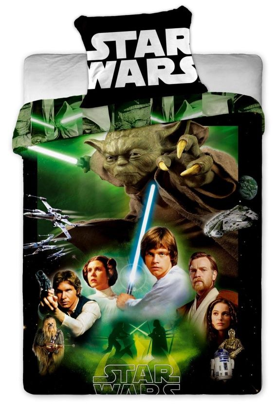 Povlečení bavlněné Star Wars green