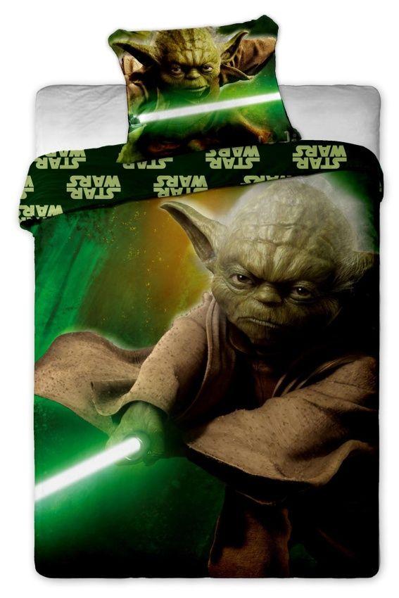Povlečení bavlněné Star Wars yoda