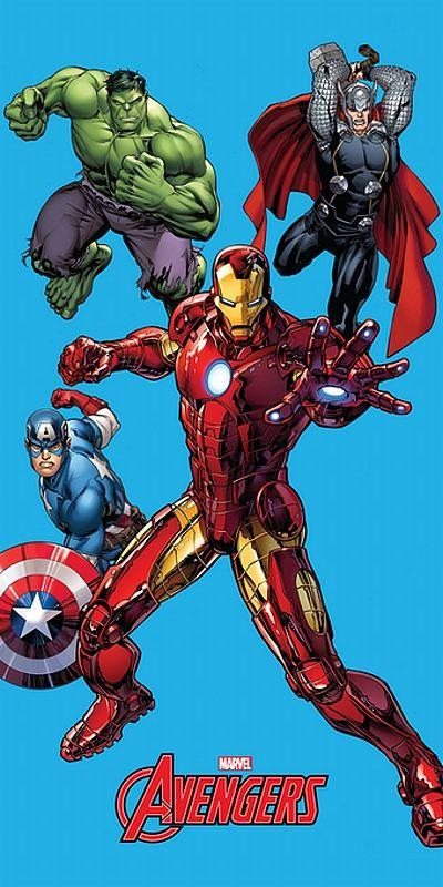 Osuška Avengers 75x150 cm rozměr 75x150 cm.