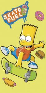 Osuška Simpsons Bart skate yellow - 75 x 150 cm