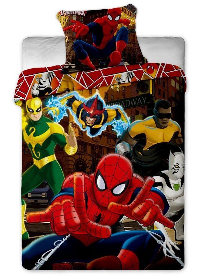 Disney - Spiderman Hero bavlněné povlečení 1x 140/200, 1x 90/70