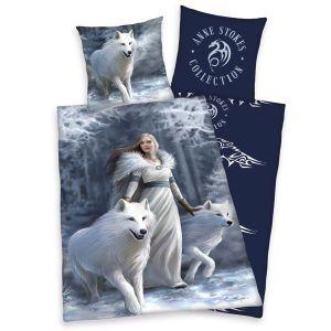 Bavlněné povlečení Anne Stokes Bílí Vlci