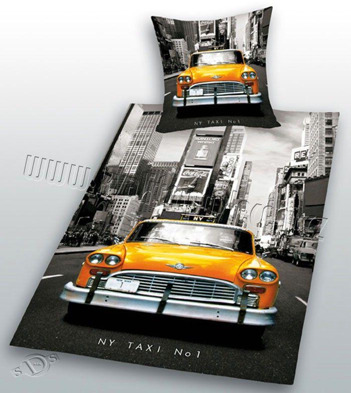 Bavlněné povlečení FOTOTISK - TAXI New York 1x 140/200, 1x 90/70