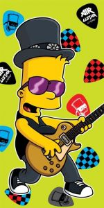 Osuška Simpsons Bart guitar - 75 x 150 cm