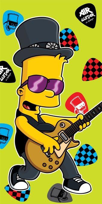 Osuška Simpsons Bart guitar - 75 x 150 cm rozměr 75x150 cm.