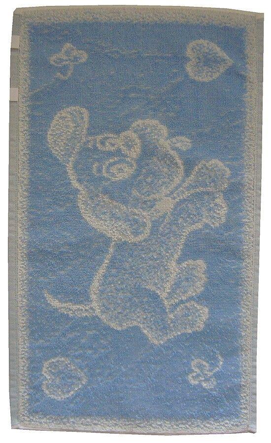 Dětský froté ručník Pejsek světle modrý