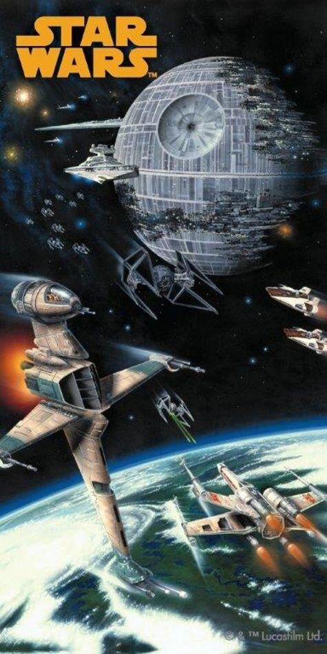Osuška Star Wars spaceships 75x150 cm