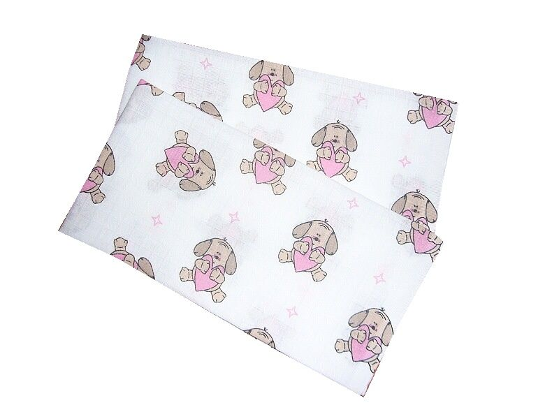 Plena  70x70 cm - Pejsek se srdíčkem růžový (balení 5 ks)