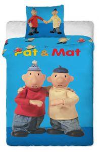 Bavlněné povlečení Pat a Mat blue