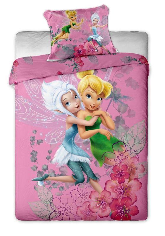 Bavlněné povlečení Disney - Fairies purple 1x 140/200, 1x 90/70