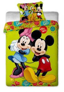 Bavlněné povlečení Disney - Mickey and Minnie green