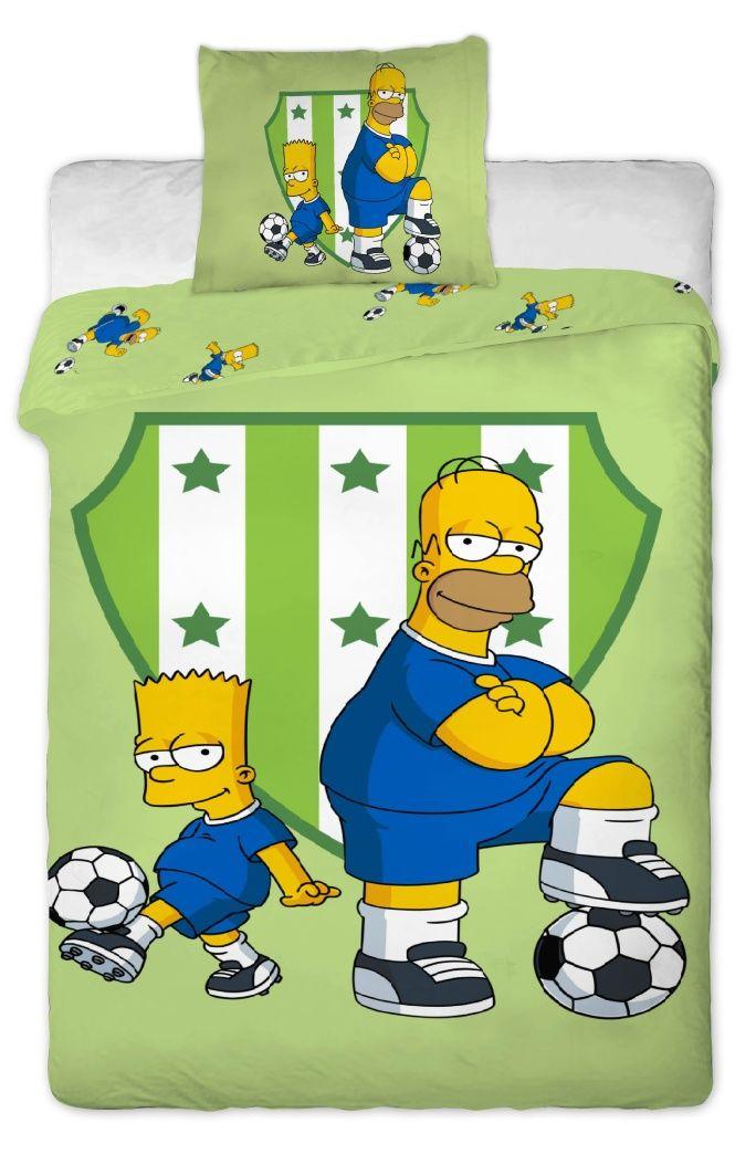 Bavlněné povlečení Simpsons Bart a Homer 1x 140/200, 1x 90/70