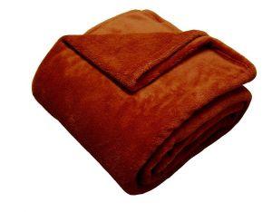 Super soft deka - cihlová